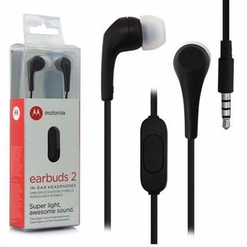 fone stereo motorola earbuds 2 original p2 3.5mm mega bass