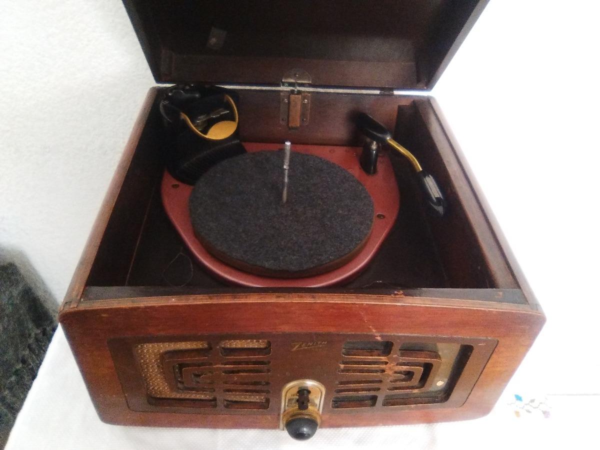 Fonógrafo Zenith 5r086z Radio Am/reproductor De Discos 1946 - $ 3,150 00