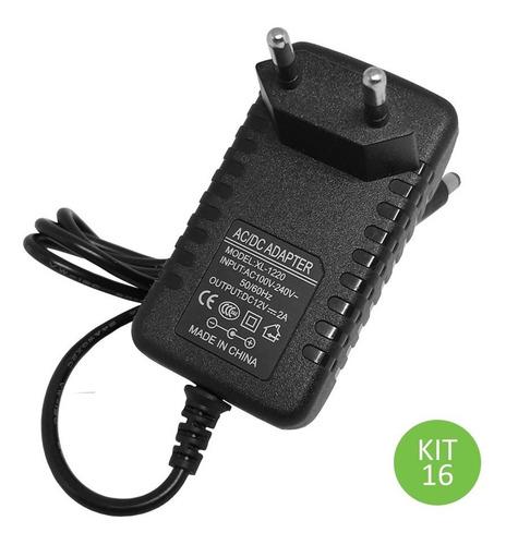 fonte 12v 2 amperes para fita led bivolt kit 16