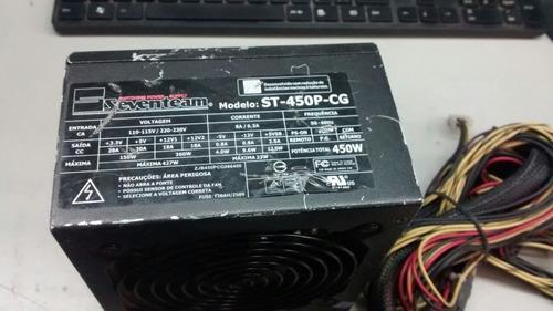 fonte 24 pinos atx +sata seventeam model:st-450p-cg 450w pci