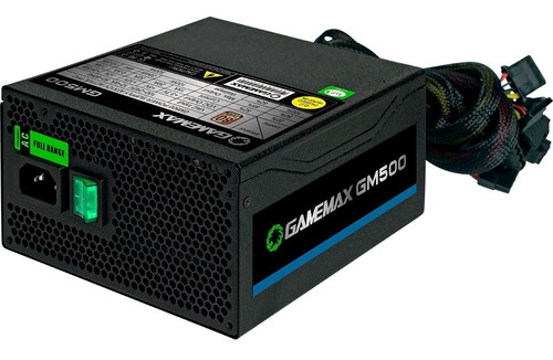 fonte 500w gamemax gm500 80 plus bronze - nova - sem caixa