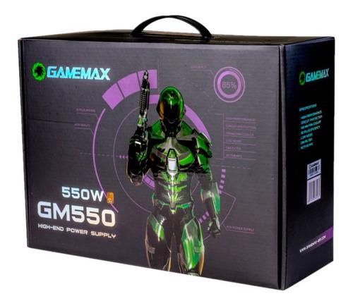 fonte 550w gamemax gm550 80 plus bronze - com garantia