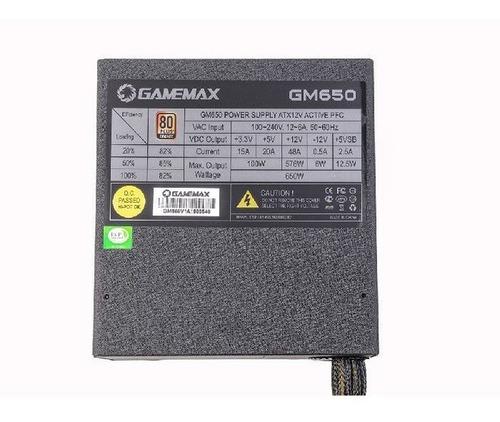 fonte 650w gamemax gm650 80 plus bronze - 12x sem juros