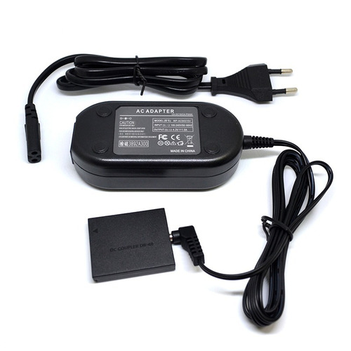 fonte ack-dc40 adaptador ac p/ canon sx280 sx500 sx510 sx600