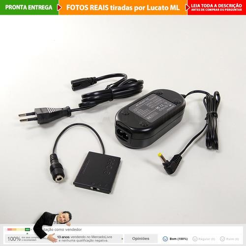fonte ack-dc90 eliminador bateria p/ canon powershot... | np