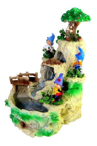 fonte água gnomos cascatas duendes - resina