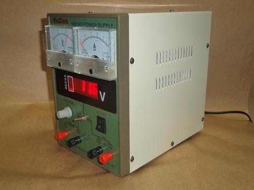 fonte alimentação c/voltímetro yaxun 1501 110v