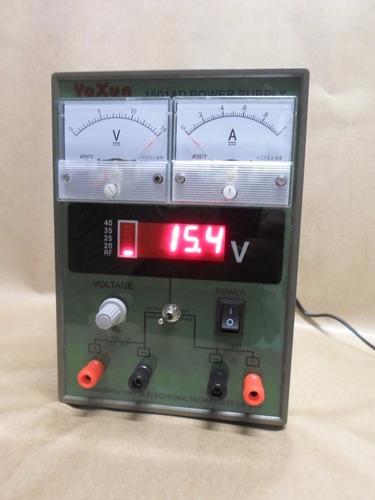 fonte alimentação c/voltímetro yaxun 1501 110v original nf