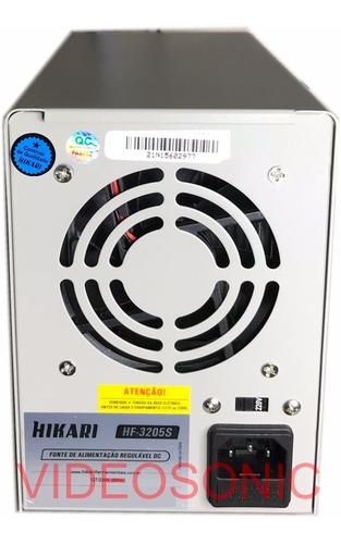 fonte alimentação digital reg. dc 32v 5a hikari hf-3205s