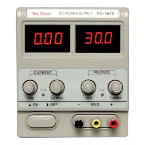 fonte alimentação variável yaxun ps-305d bivolt 30v 5a