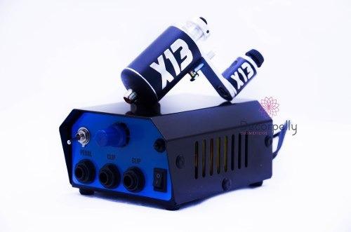 fonte analógica para 2 maquinas tatuagem + x13 xtm rca pedal
