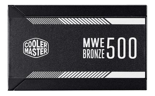 fonte atx 500w cooler master mwe pfc ativo 80 plus bronze