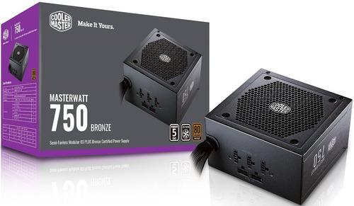 fonte atx 750w 80 plus bronze semi-modular masterwatt gamer