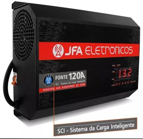 fonte automotiva 120 a jfa carregador modelo 2018 +4 brinde