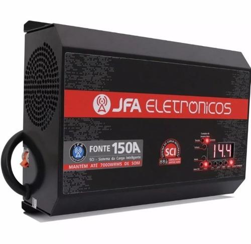fonte automotiva 150a jfa carregador tipo stetsom