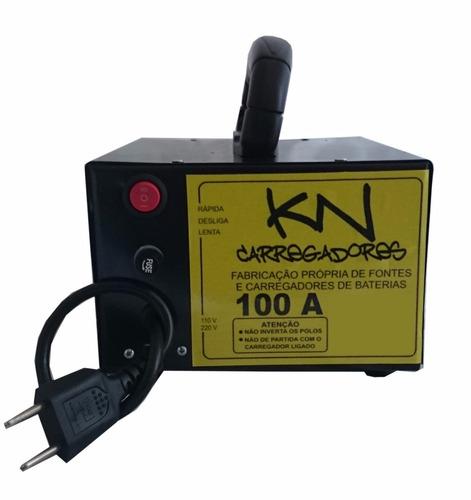 fonte automotiva carregador de bateria 100amp bivolt