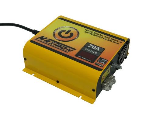 fonte automotiva digital 60a 110/220 biv voltimetro ajustav