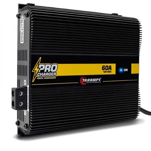 fonte automotiva e carregador taramps pro charger 60 bivolt