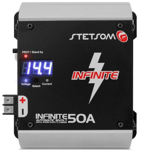fonte automotiva stetsom infinite 50a carregador de bateria