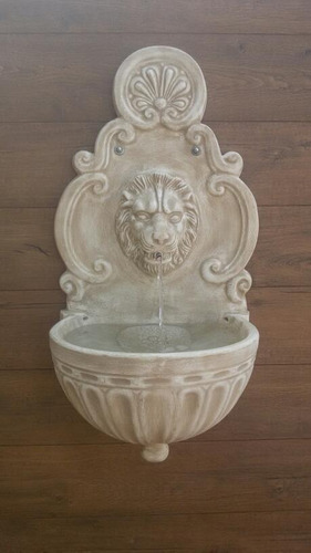 fonte c/ elefante ou leão com pia grega de parede unidade