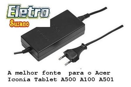 fonte carregador acer iconia tablet a500 a100 a501
