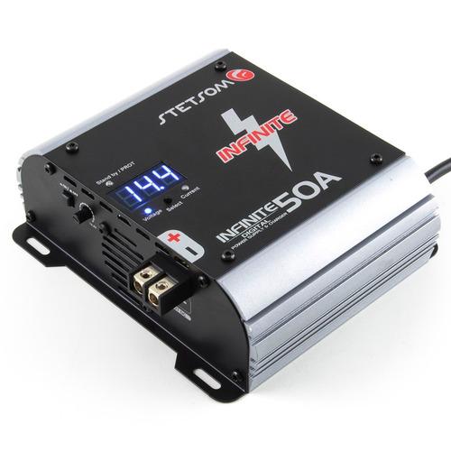 fonte carregador bateria carro stetsom 50a voltimetro bivolt