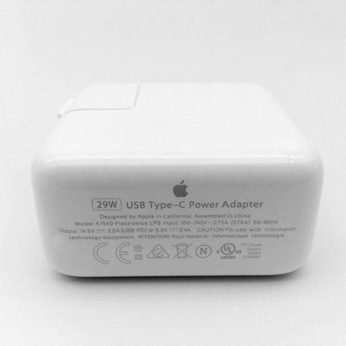 fonte carregador macbook 12 pol original 29w usb c iphone 8