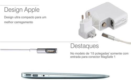 fonte carregador magsafe apple 60w p/ macbook e pro mac sp