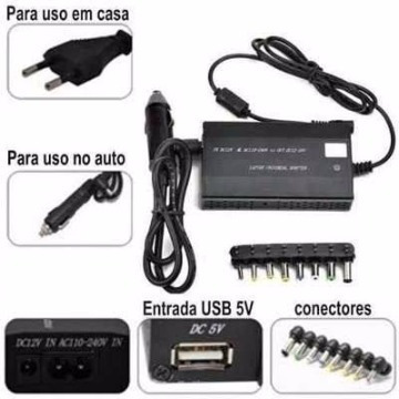 fonte carregador notebook com adaptador universal power