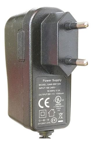 fonte carregador power supply saw-0901500 9v 0.5a