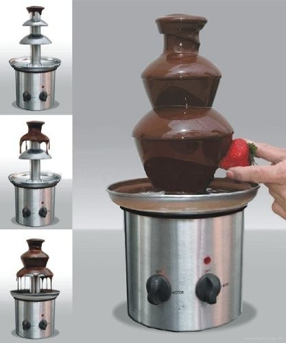 fonte cascata chocolate (3 andares) inox 110 wts ou 220wts