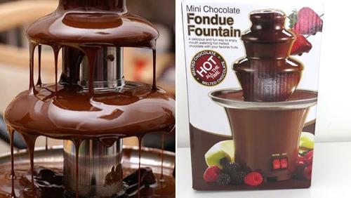 fonte cascata de chocolate 3 andares fondue elétrica