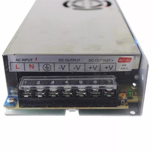 fonte chaveada 12v volts 20a amperes 250w bivolt p/ led cftv