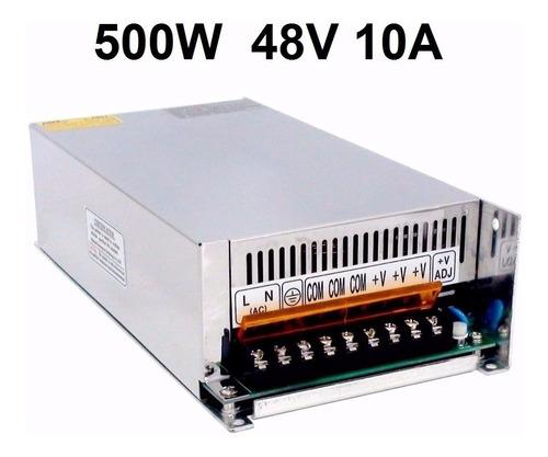 fonte chaveada estabilizada 48v 10a 500w bivolt