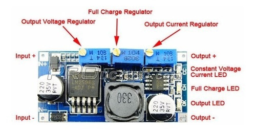 fonte corrente tensão constante lm2596 step down - 0180