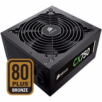 fonte corsair 750w cx 80plus bronze cp-9020015 c/nfe