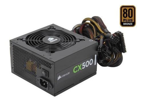 fonte corsair cx500 500watts pc gamer 80 plus