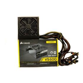 Fonte Corsair Vs600 600 Watts Pc Gamer 80 Plus