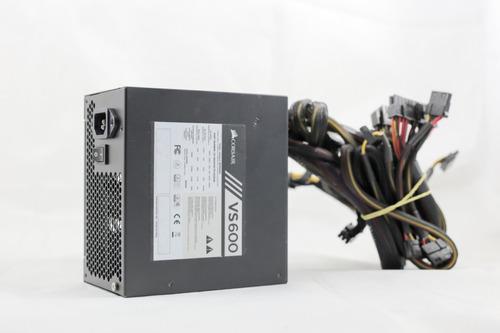 fonte corsair vs600 80plus pc gamer