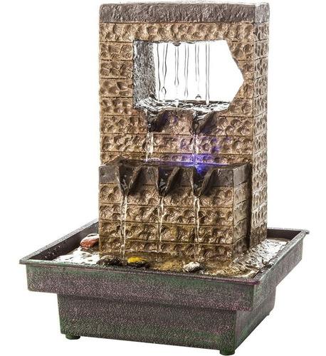 fonte de água decorativa cascata led waterdrop relaxmedic