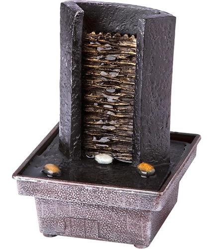 fonte de água decorativa cascata relaxante bivolt relaxmedic