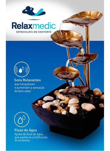 fonte de água decorativa leaves relaxante bivolt relaxmedic