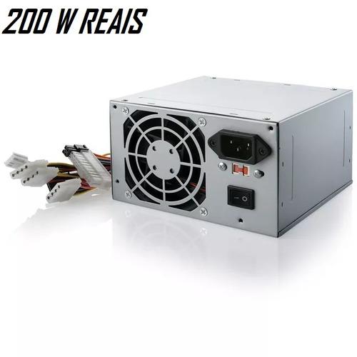 fonte de alimentação atx 400w (200w real) multilaser queimad