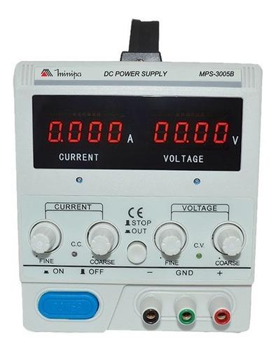 fonte de alimentação digital ajust. 30v 5a mps-3005a minipa
