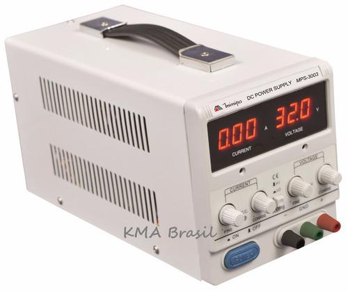 fonte de alimentação digital ajust 32v 3a mps-3003 minipa
