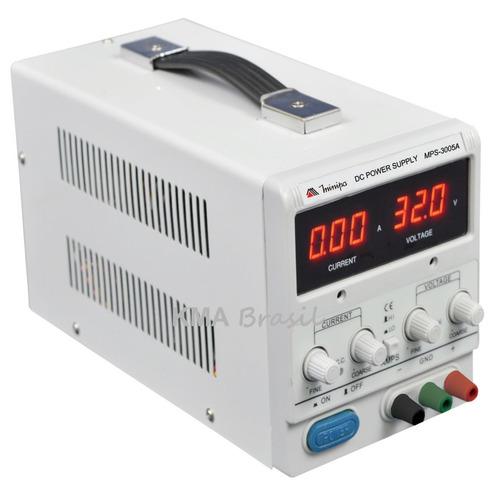 fonte de alimentação digital ajustav 32v 5a mps-3005a minipa