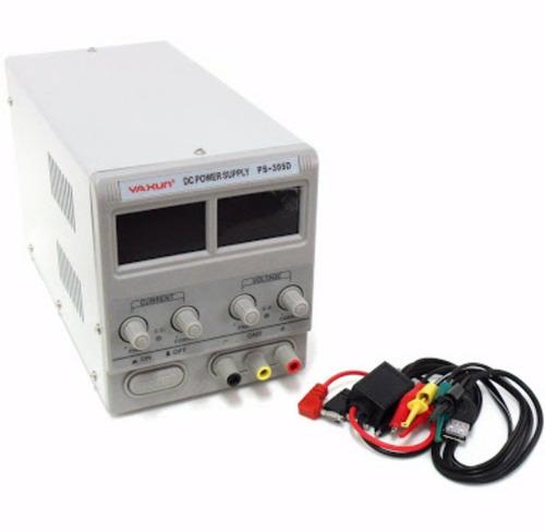 fonte de bancada p choque baterias regulavel yaxun 30v5a +nf
