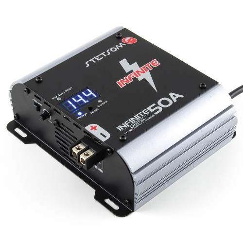 fonte e carregador de bateria stetsom 50 amp com voltímetro