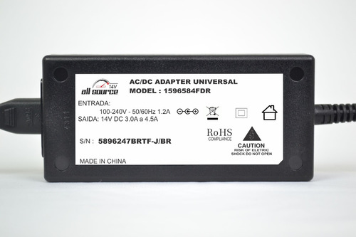 fonte externa monitor lg  led,lcd 14v 3,8a 100% compativel