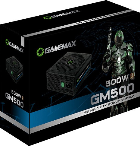 fonte gamemax gm500 preta 80 plus bronze 500w
